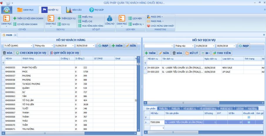 Phần mềm quản lý Spa Beauty Soft