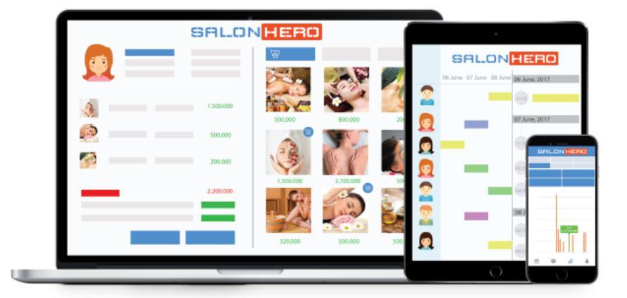 Phầm mềm quản lý spa miễn phí - SalonHero